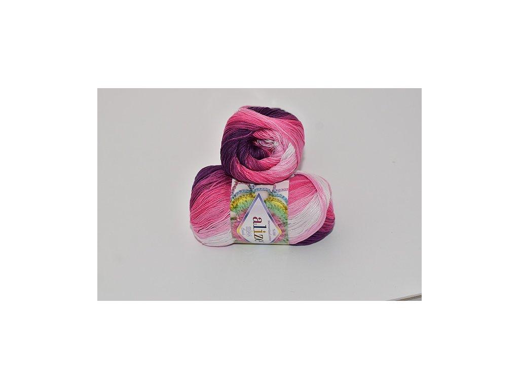 Alize Miss batik 3702 modro-bílá