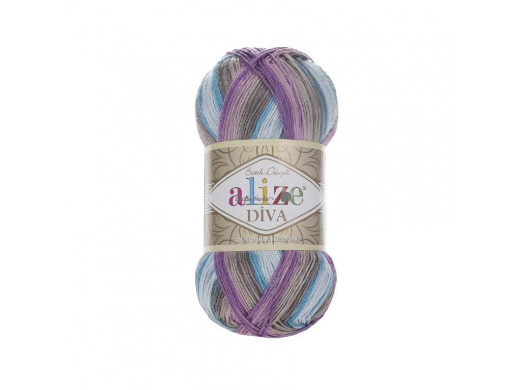 Příze Alize Diva batik 5553 modro-fialová