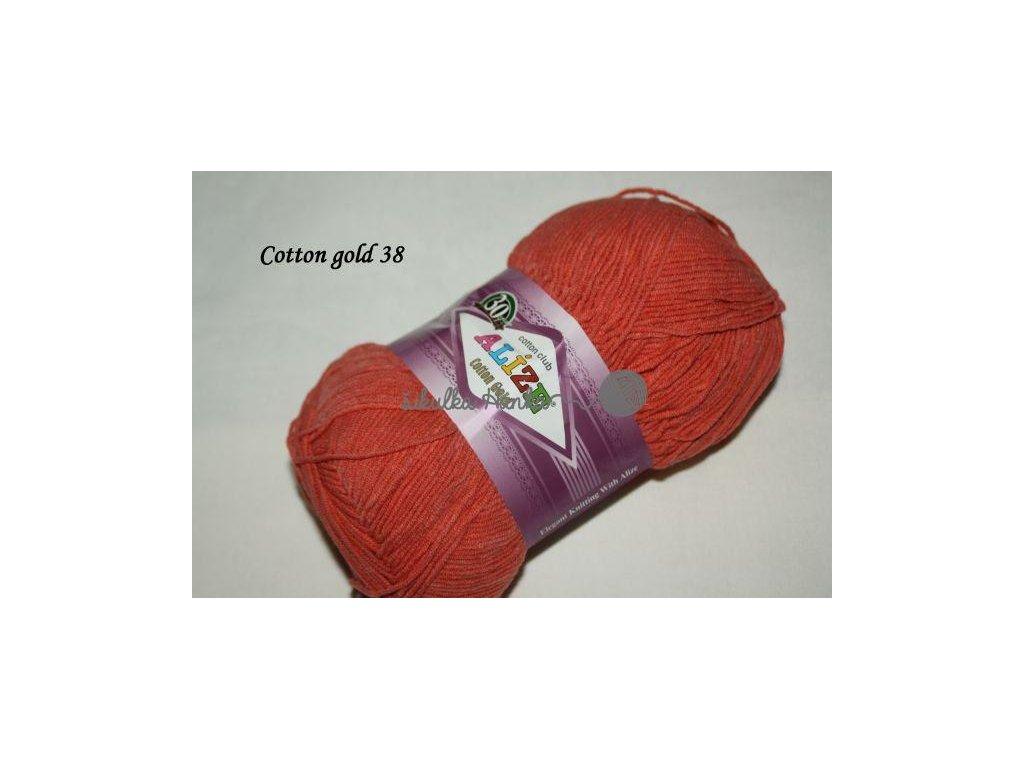 Příze Alize Cotton gold 38 korálová