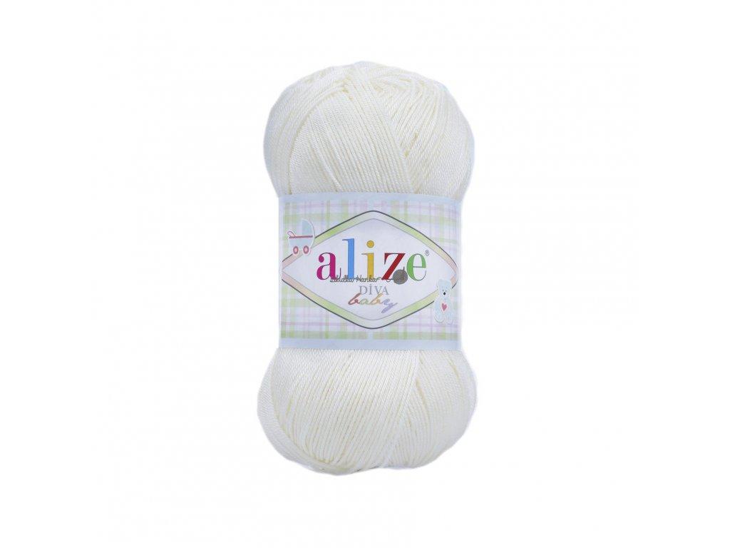 Alize Diva baby 1055 bílá