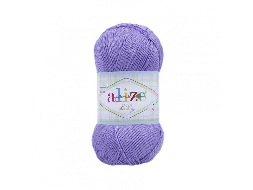 Příze Alize Diva baby 43 fialová