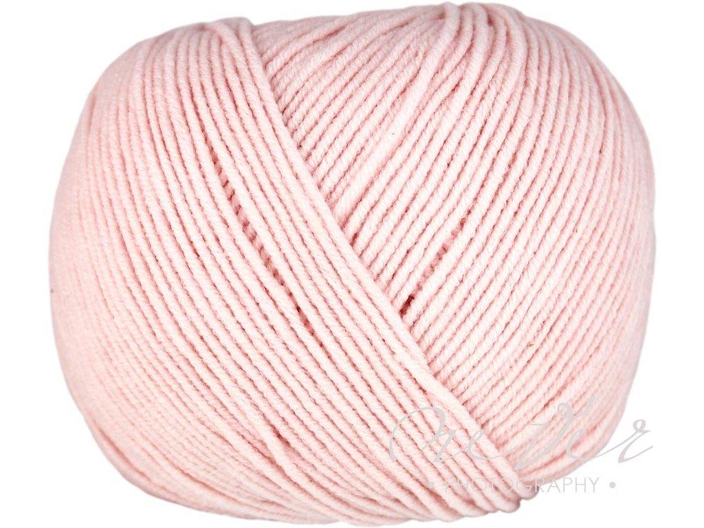 Jeans - Vlna Hep 8003 světlounká růžová
