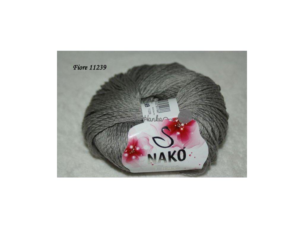 Příze Nako FIORE šedá 11239