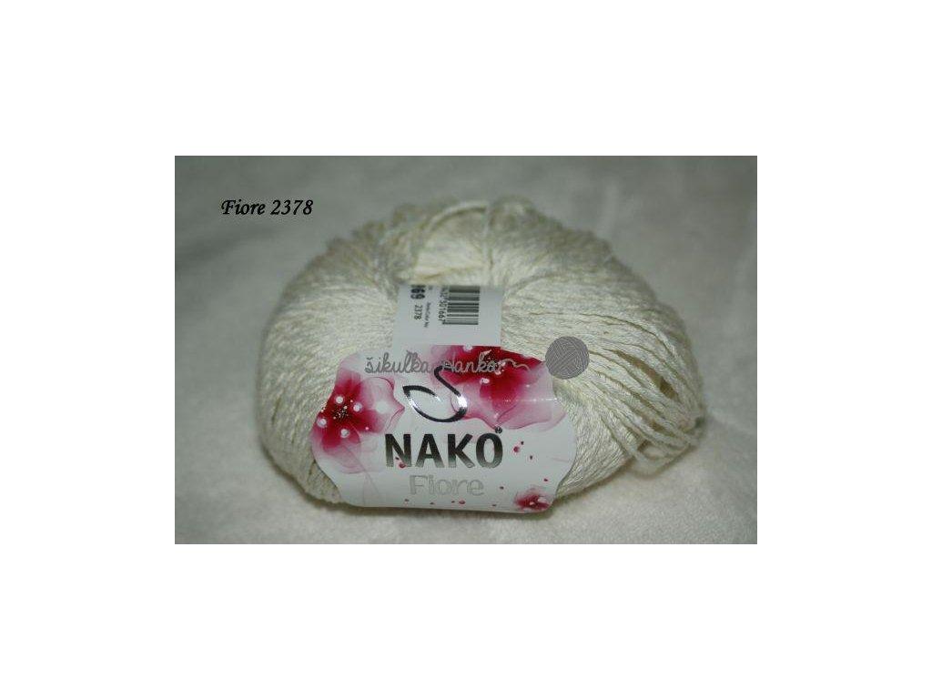 Příze Nako FIORE smetanová 2378