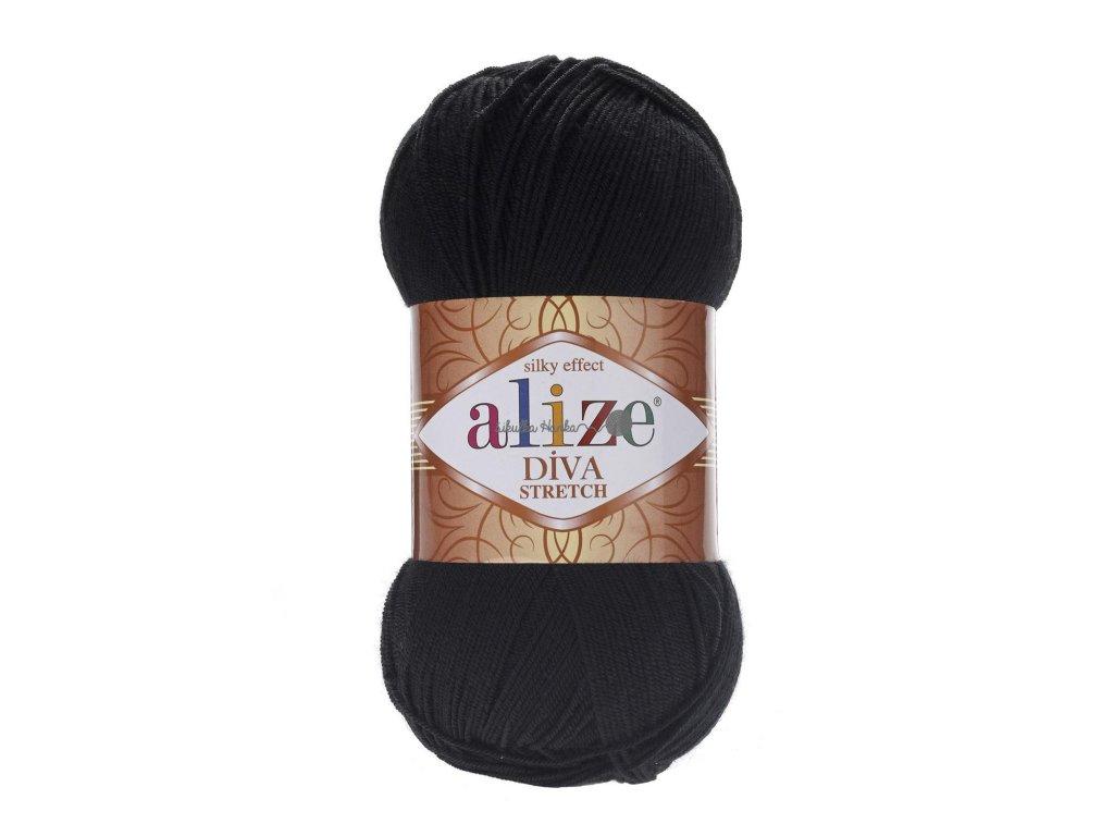 Alize Diva stretch 60 černá
