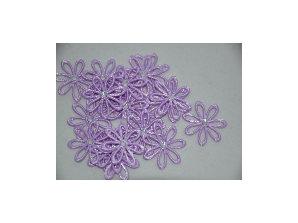 Aplikace kytička s kamínkem sv.fialová