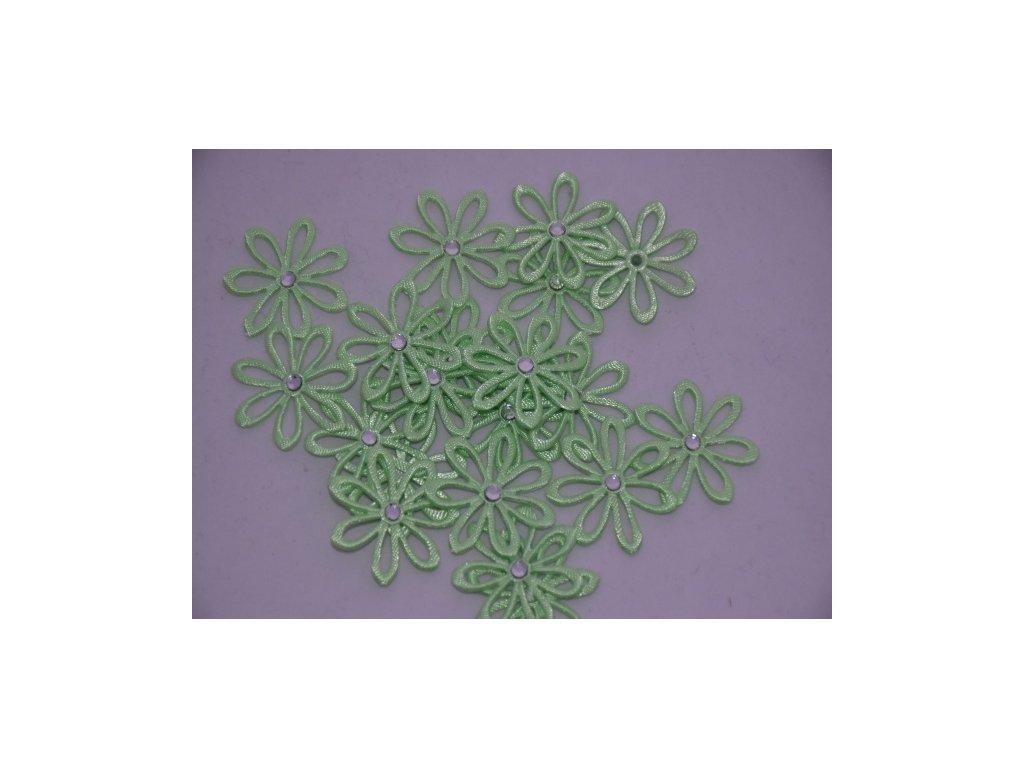 Aplikace kytička s kamínkem sv.zelená