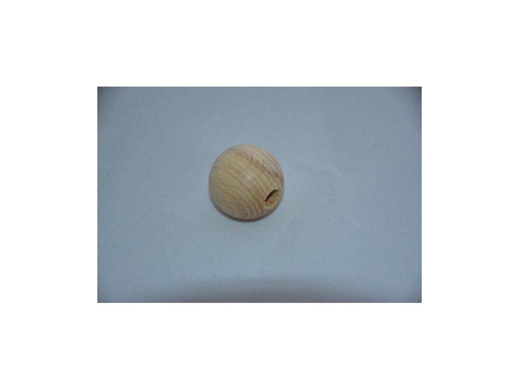 Korále dřevěné 30mm, průvlek 6mm