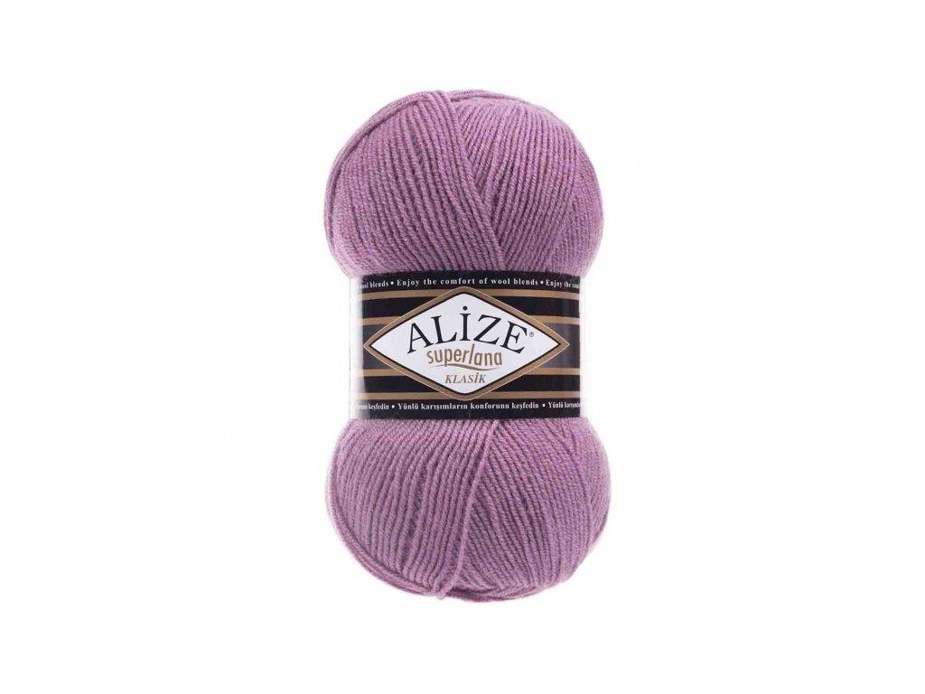 Příze Alize Superlana klasik 28 fialovo-růžová
