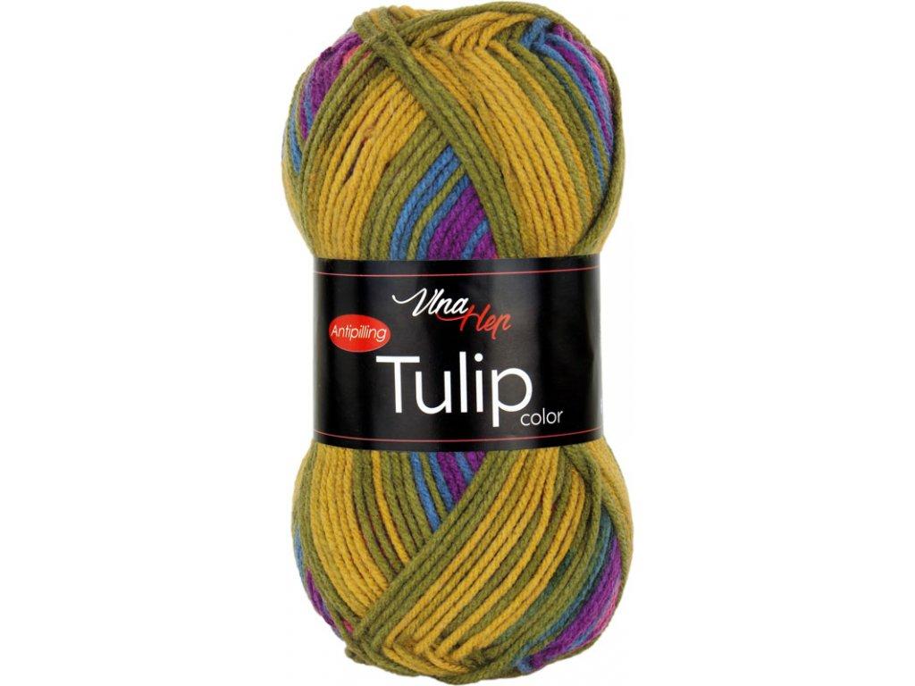 Tulip color 5201 modro-zeleno-hnědá