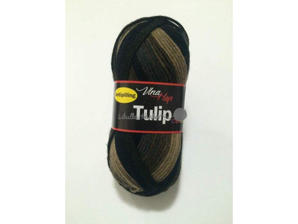 Tulip color 5204 hnědo-černá