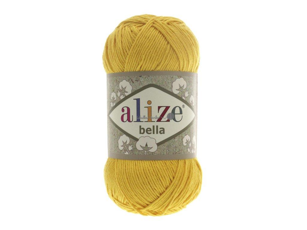 Příze Alize Bella 488 tmavší žlutá