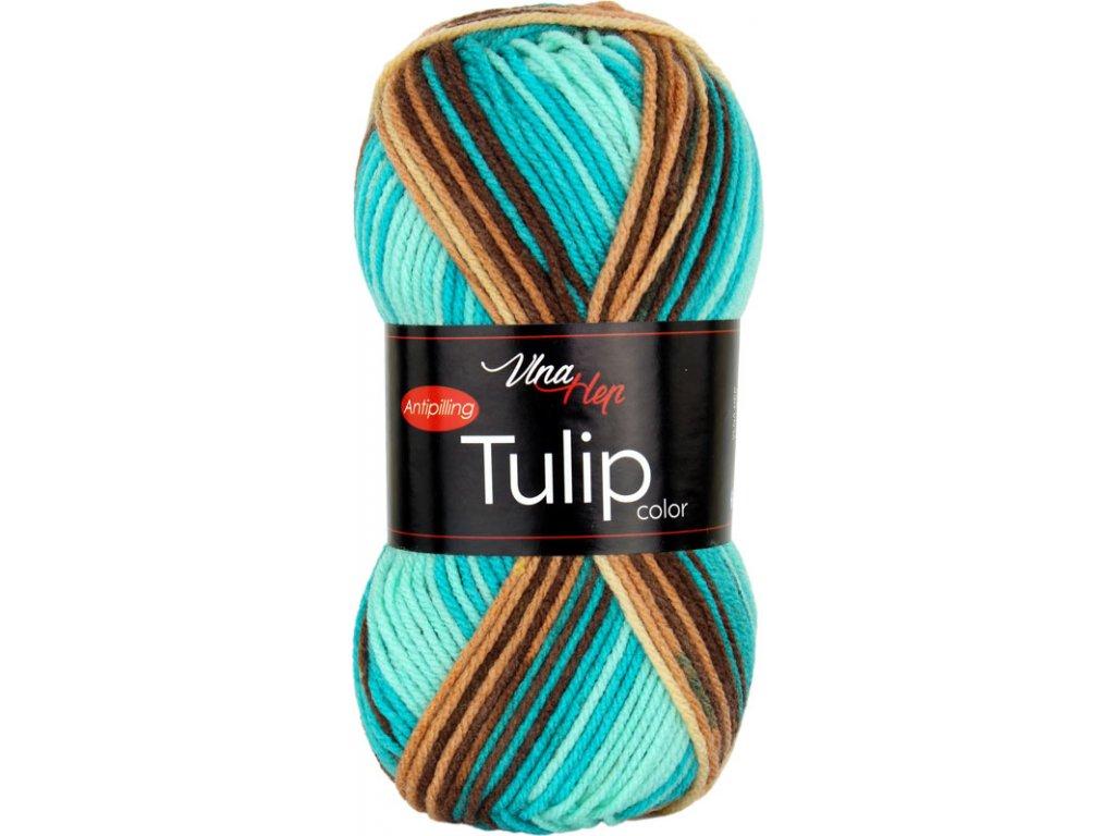 Tulip color 5215 tyrkysovo-hnědý melír