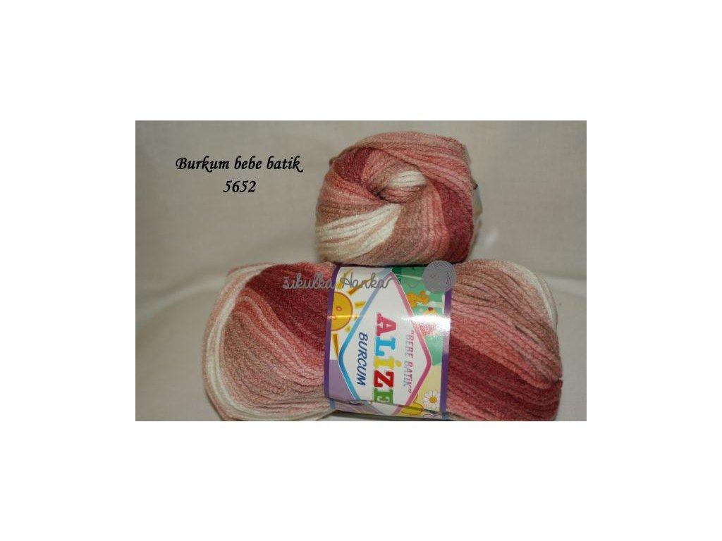 Burkum bebe batik 5652 korálovo-světlá