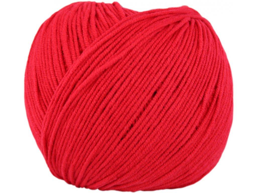 Jeans - Vlna Hep 8009 červená