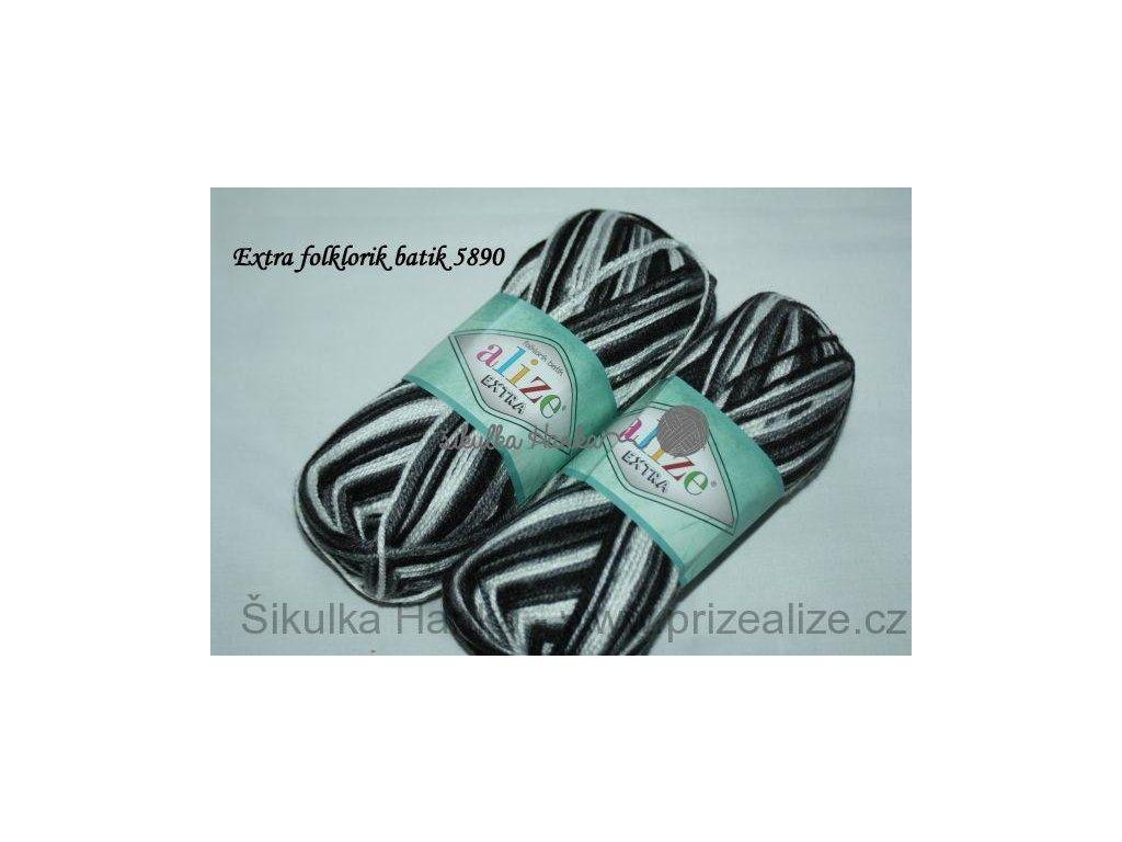 Příze Alize Extra folklorik batik 5890