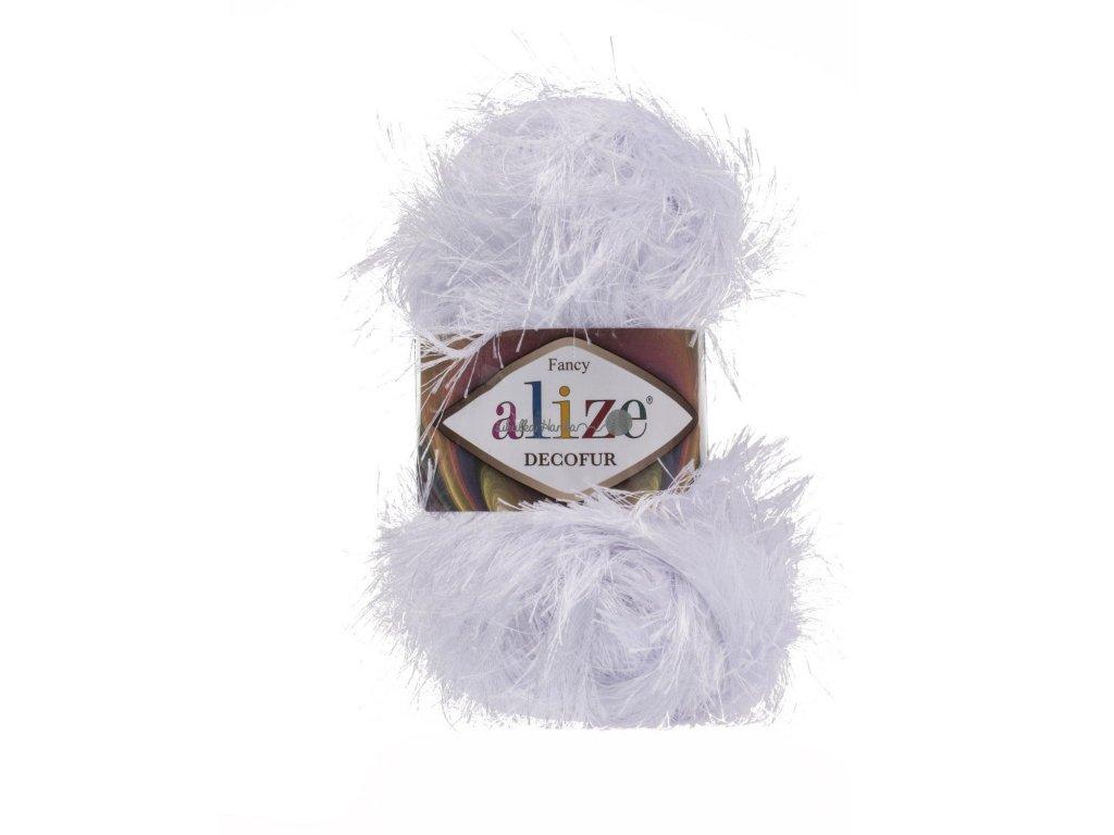 Alize Decofur 55 bílá
