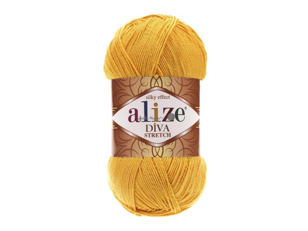 Alize Diva stretch 488 tmavší žlutá