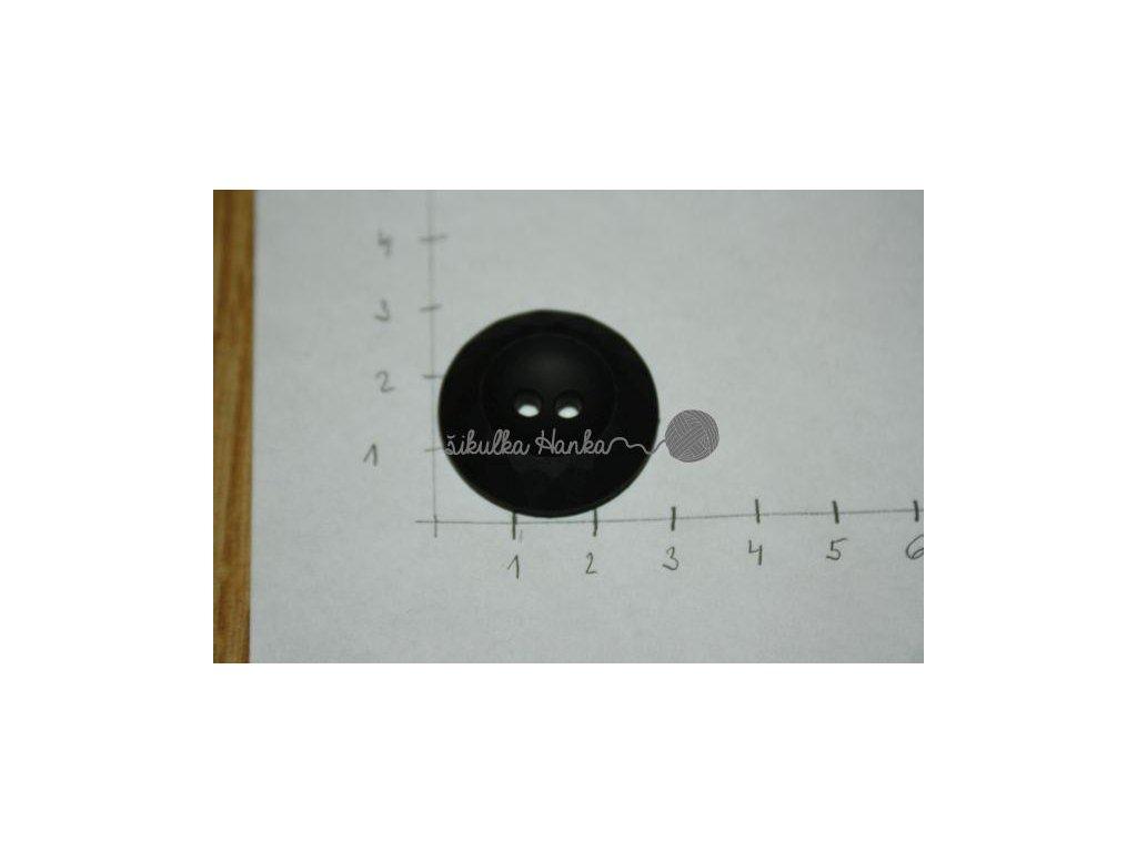 Knoflík černý robusní 28mm