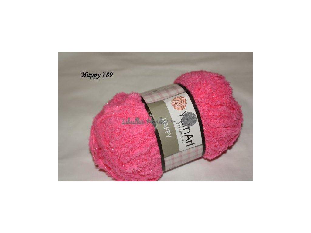 Příze Yarn Art Happy 789 zářivá růžová