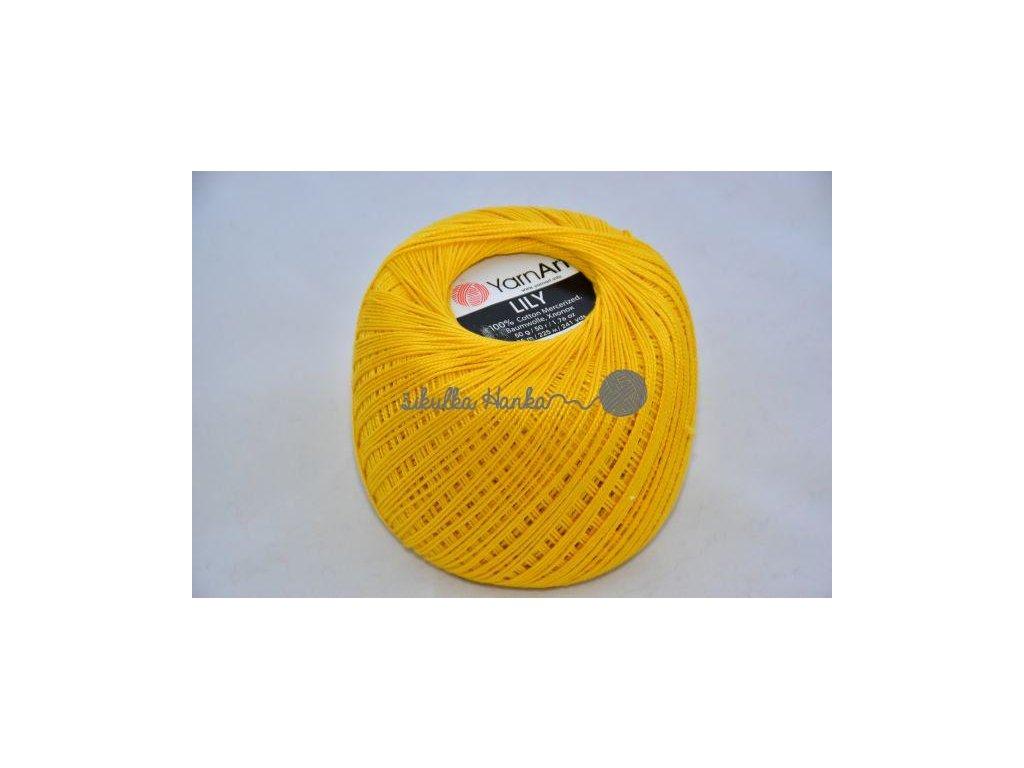 Příze Yarn Art Lily 6347 žlutá