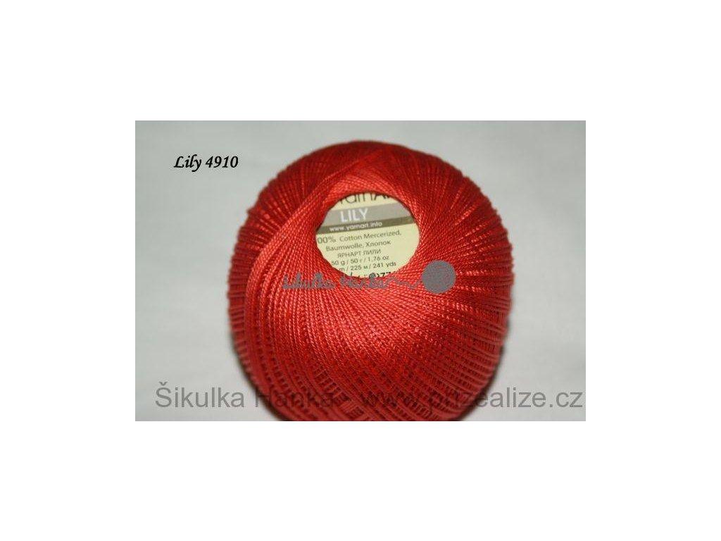 Příze Yarn Art Lily 4910 cihlová červená