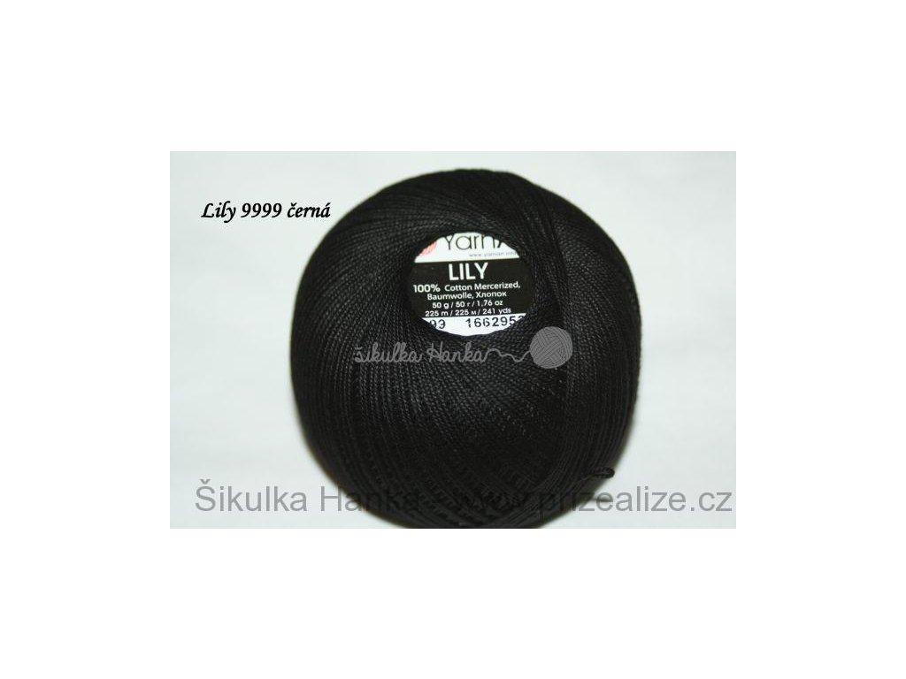 Příze Yarn Art Lily 9999 černá