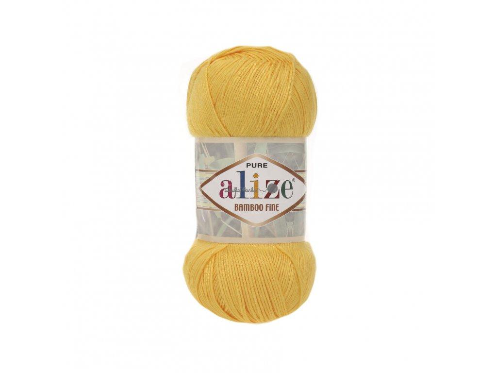 Příze Alize Bamboo fine 216 žlutá