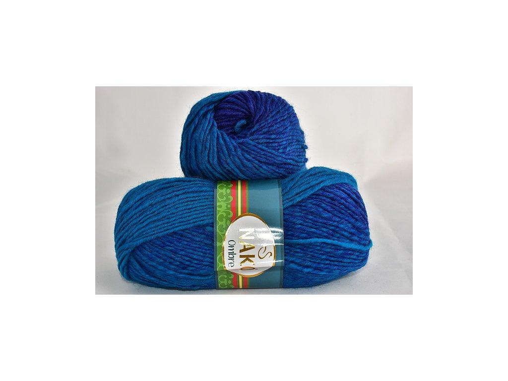 Příze Nako Ombre 20318 tyrkysová-královská modrá