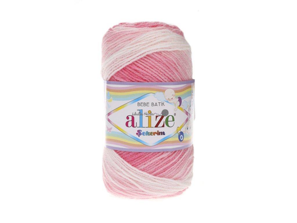 Sekerim bebe batik 2126 růžovo-bílá