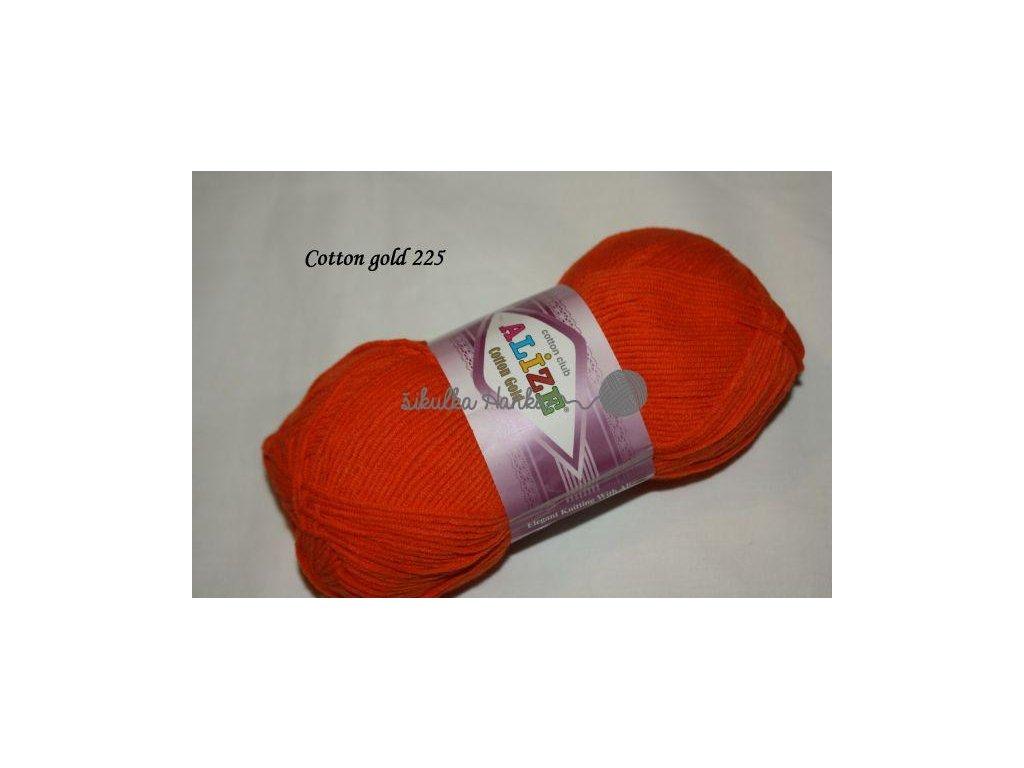 Příze Alize Cotton gold 225 zářivá oranžová