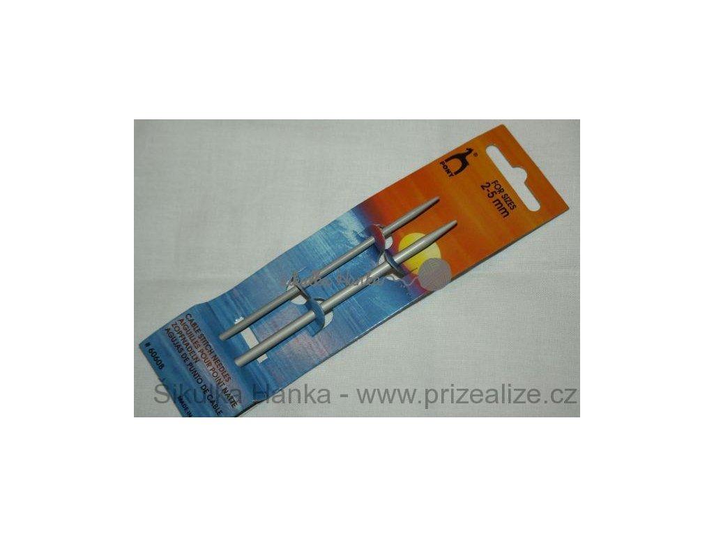 Pomocné jehlice PONY krátké 2+5mm