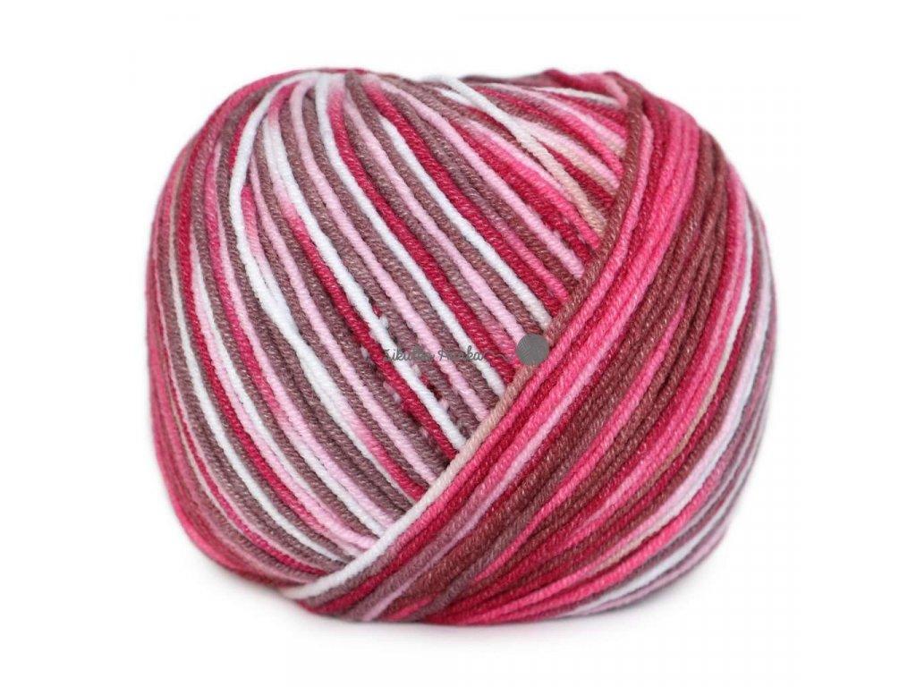 Jeans color  9074 růžovo-hnědá