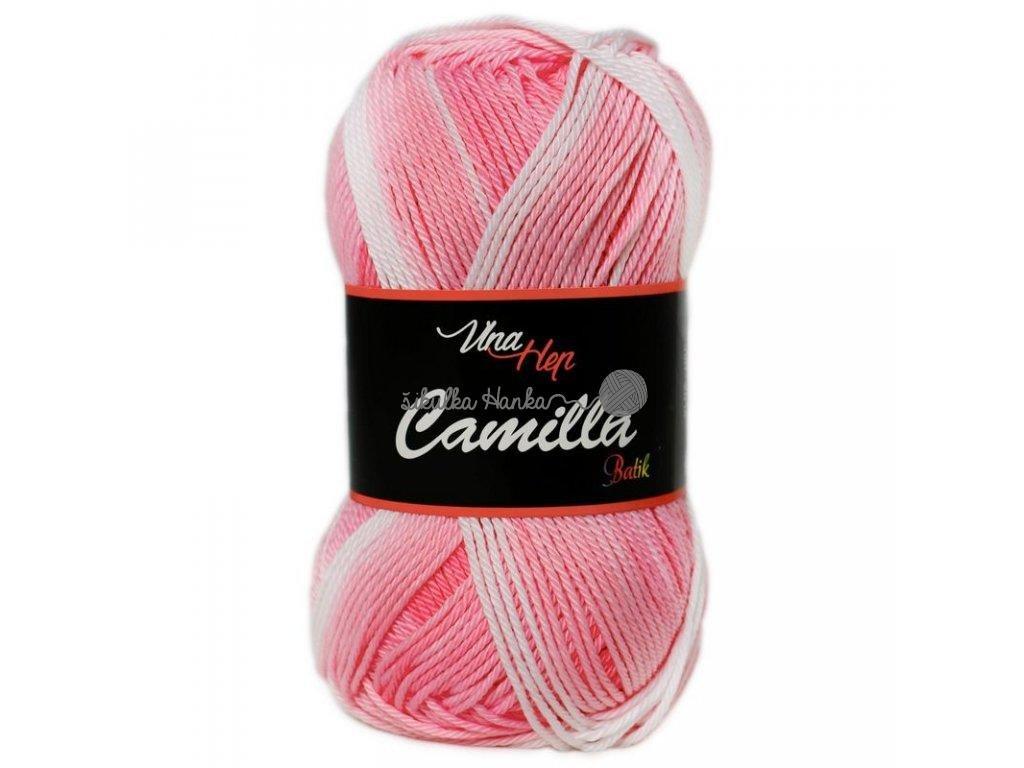 Příze Camilla batik 9602 růžovo-bílá