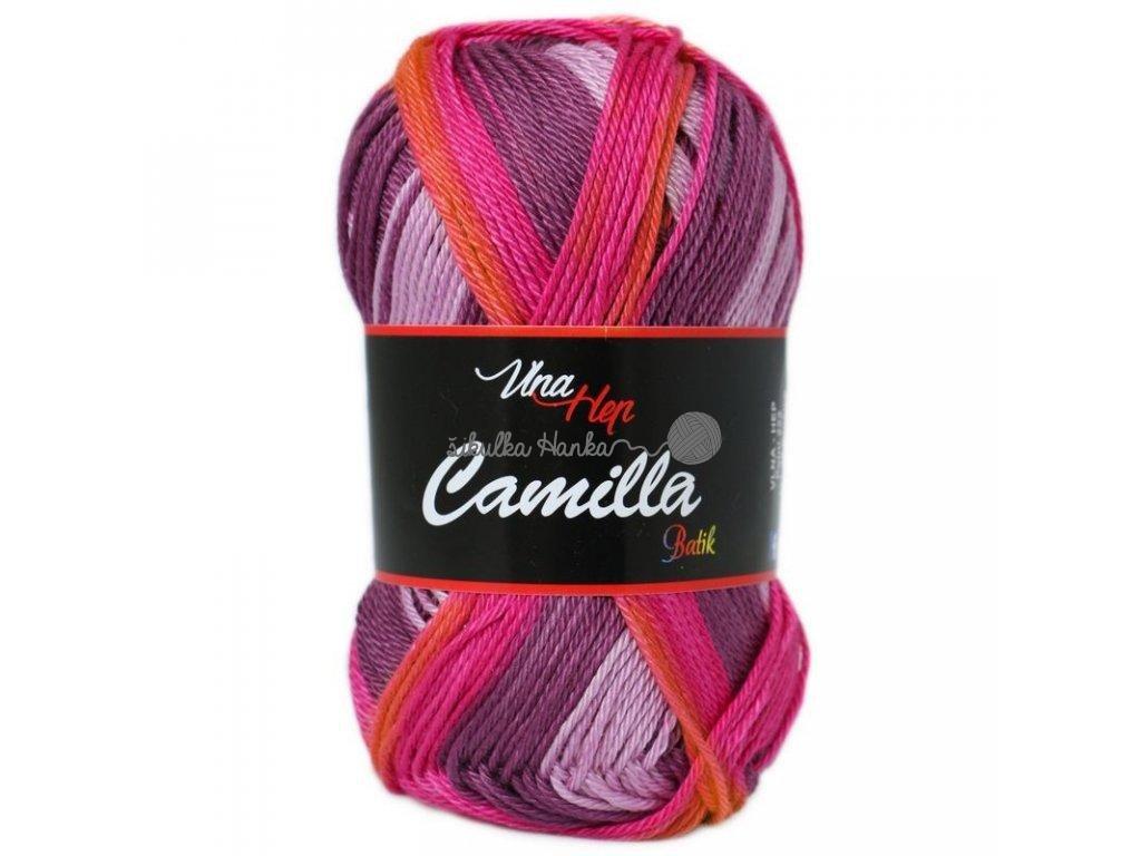 Příze Camilla batik 9604 růžovo-vínová