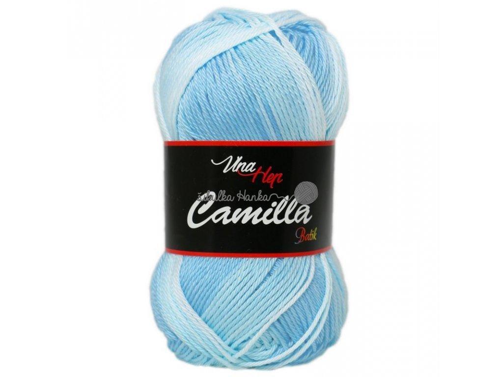 Příze Camilla batik 9612 sv.modro-bílá