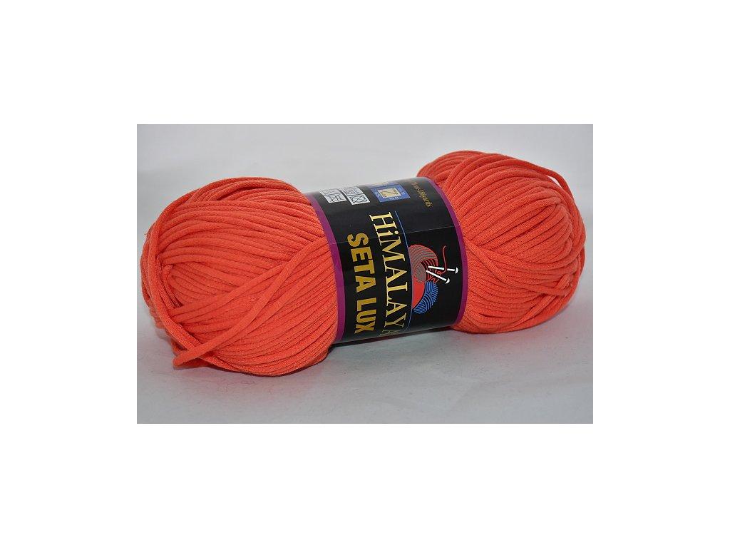 Příze Seta lux 15 oranžová