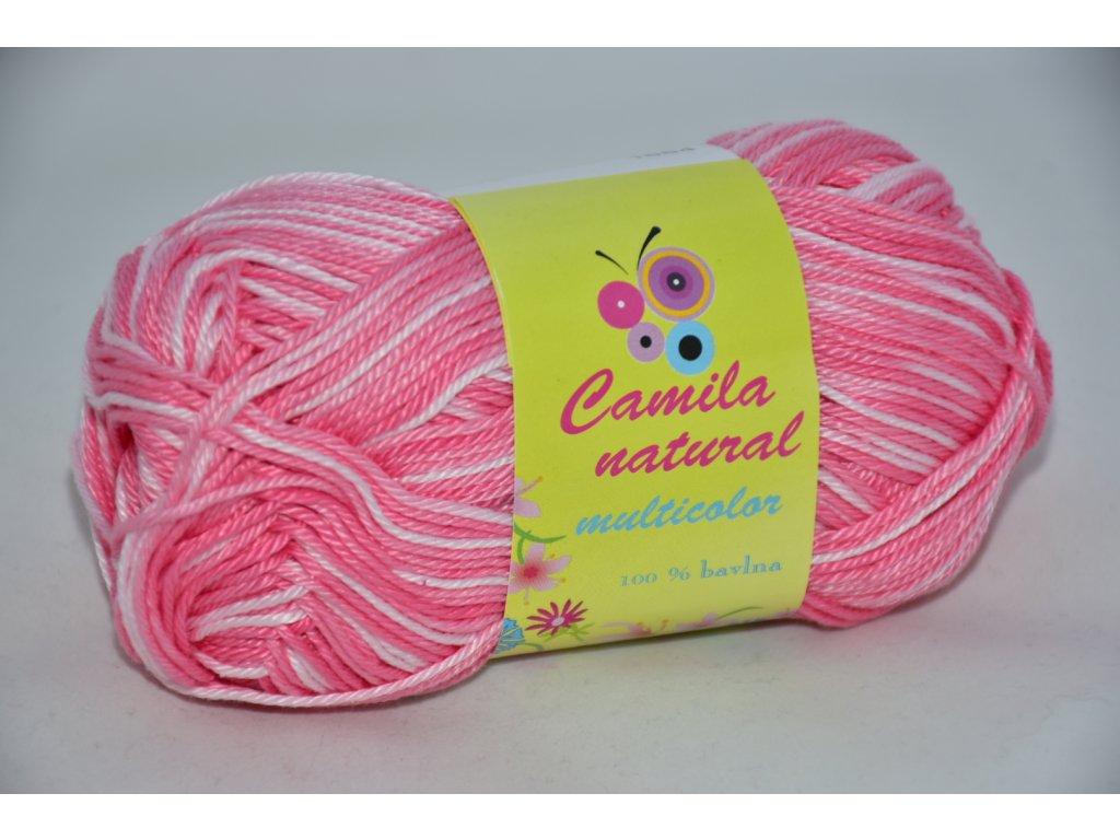 Camila natural multicolor 9202 růžovo-bílá