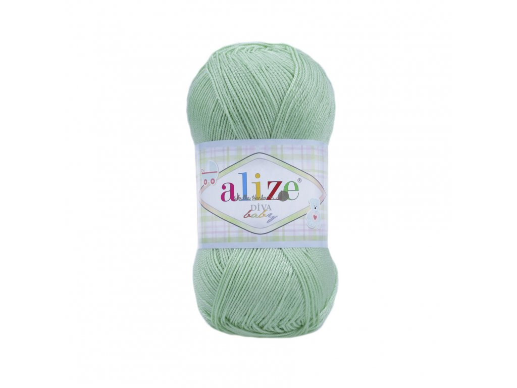 Alize Diva baby 41 sv.zelená