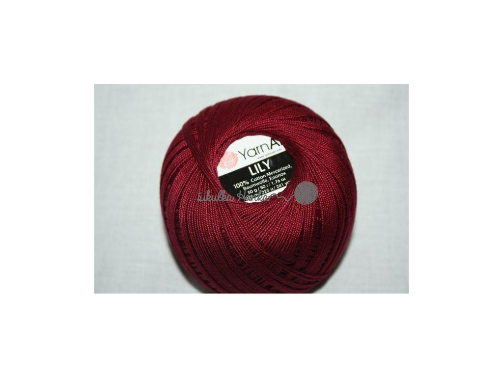 Příze Yarn Art Lily 0112 vínová