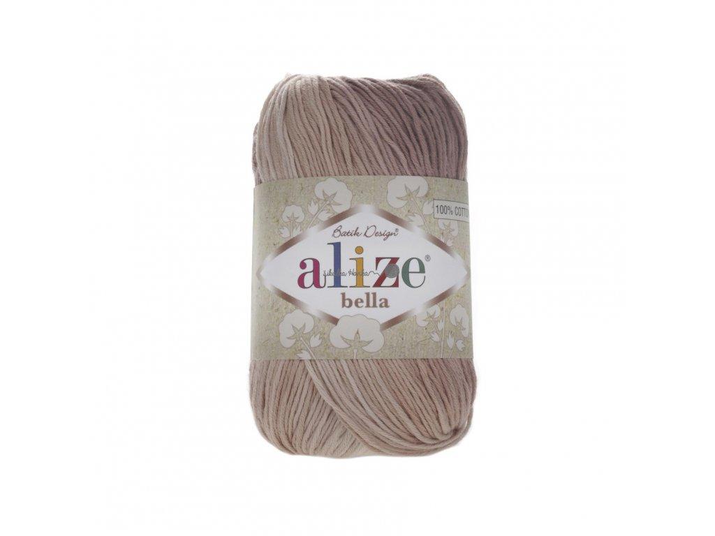 Alize Bella batik 100 - 1815 hnědý melír