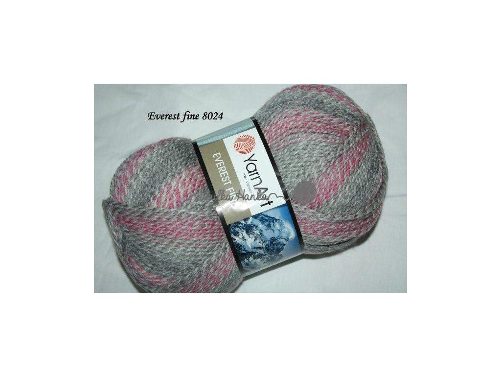 Everest fine 8024 růžovo-šedá