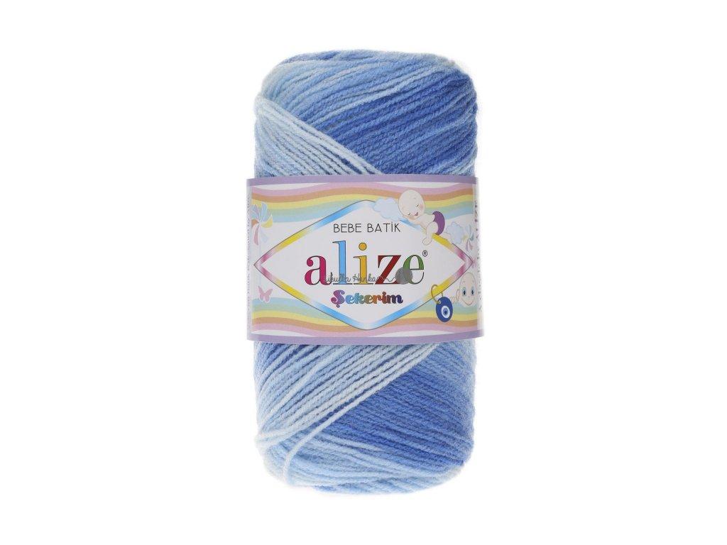 Sekerim bebe batik 3481 modro-bílá tmavší