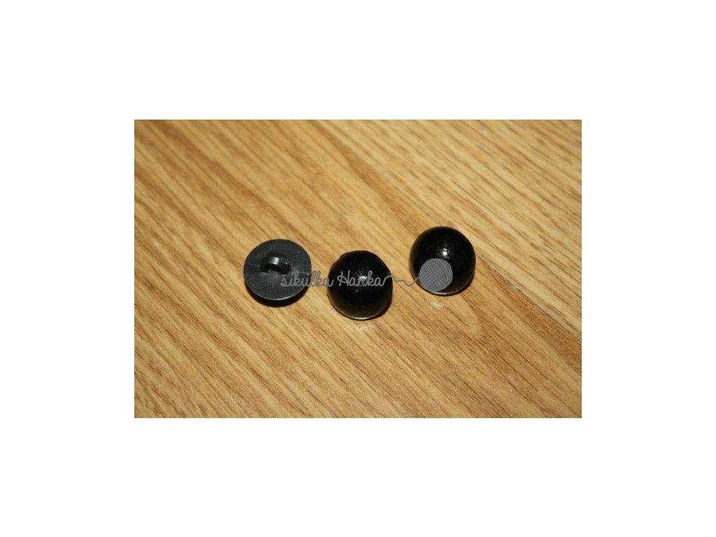 Oči knoflík černý 15mm