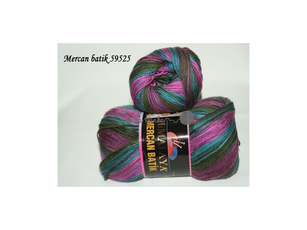 Mercan batik 59525 fialovo-modrá