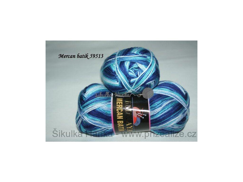 Mercan batik 59513 modro-bílá