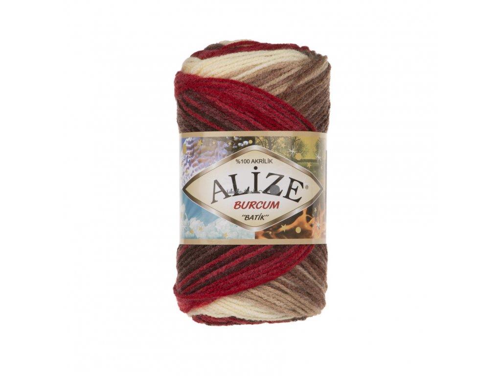 Burkum batik 4574 červeno-hnědo-béžová