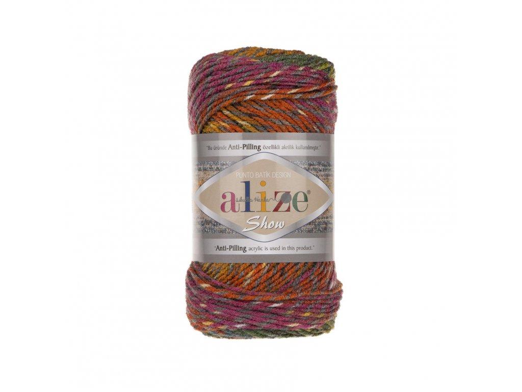Příze Show batik punto design 6352 barevná