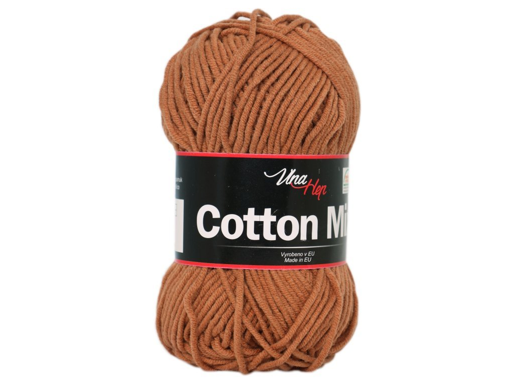 Cotton mix 8218 hnědá