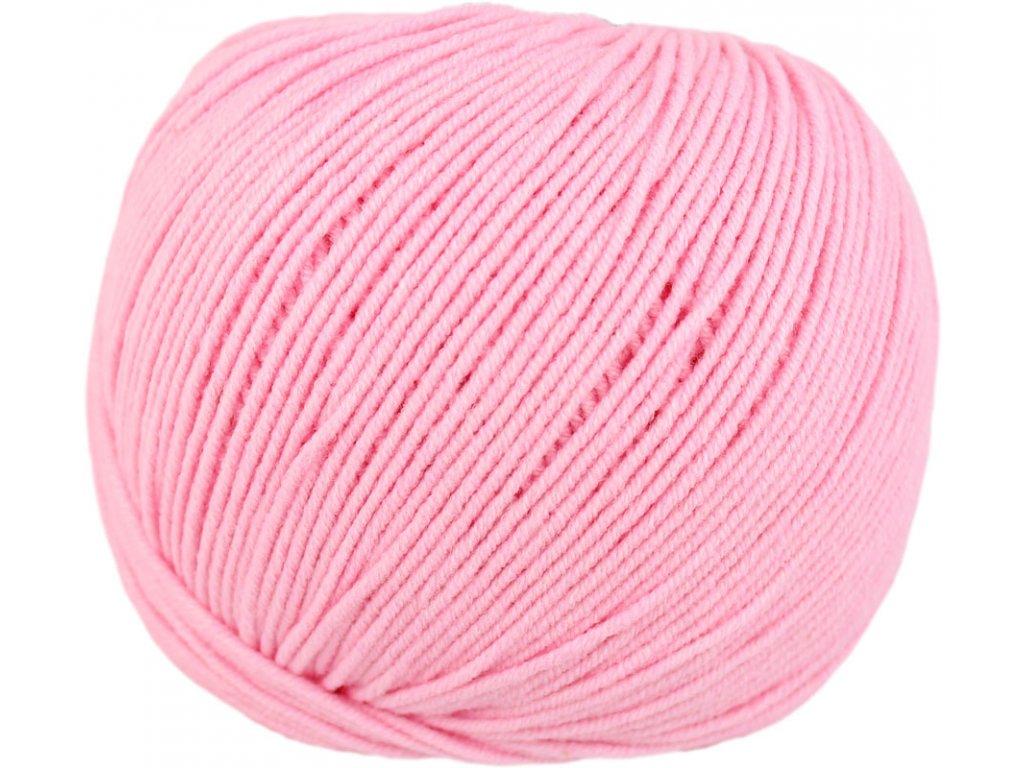 Jeans - Vlna Hep 8027 bledá růžová